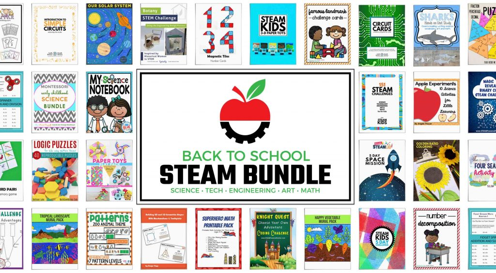 Back to School STEAM Bundle. Save 92% with this incredible STEM resource!