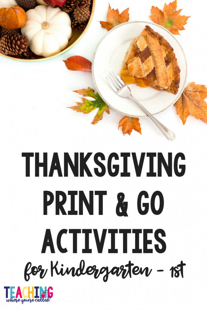 Looking to keep your students engaged in learning activities as Thanksgiving approaches? These easy to use, print and go worksheets will give your kindergarten and 1st grade students plenty of learning opportunities while tying into all things Thanksgiving. These printables are perfect for November math and literacy centers, small group work, independent practice, and morning work.
